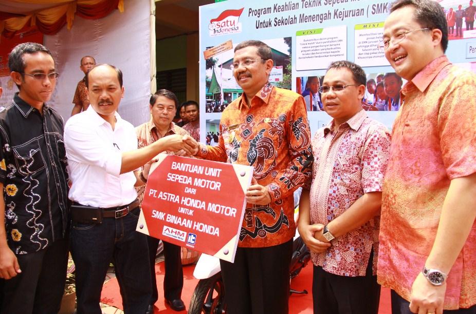 Peresmian Program Kerjasama SMK Kurikulum Teknik Sepeda Motor (TSM) Honda