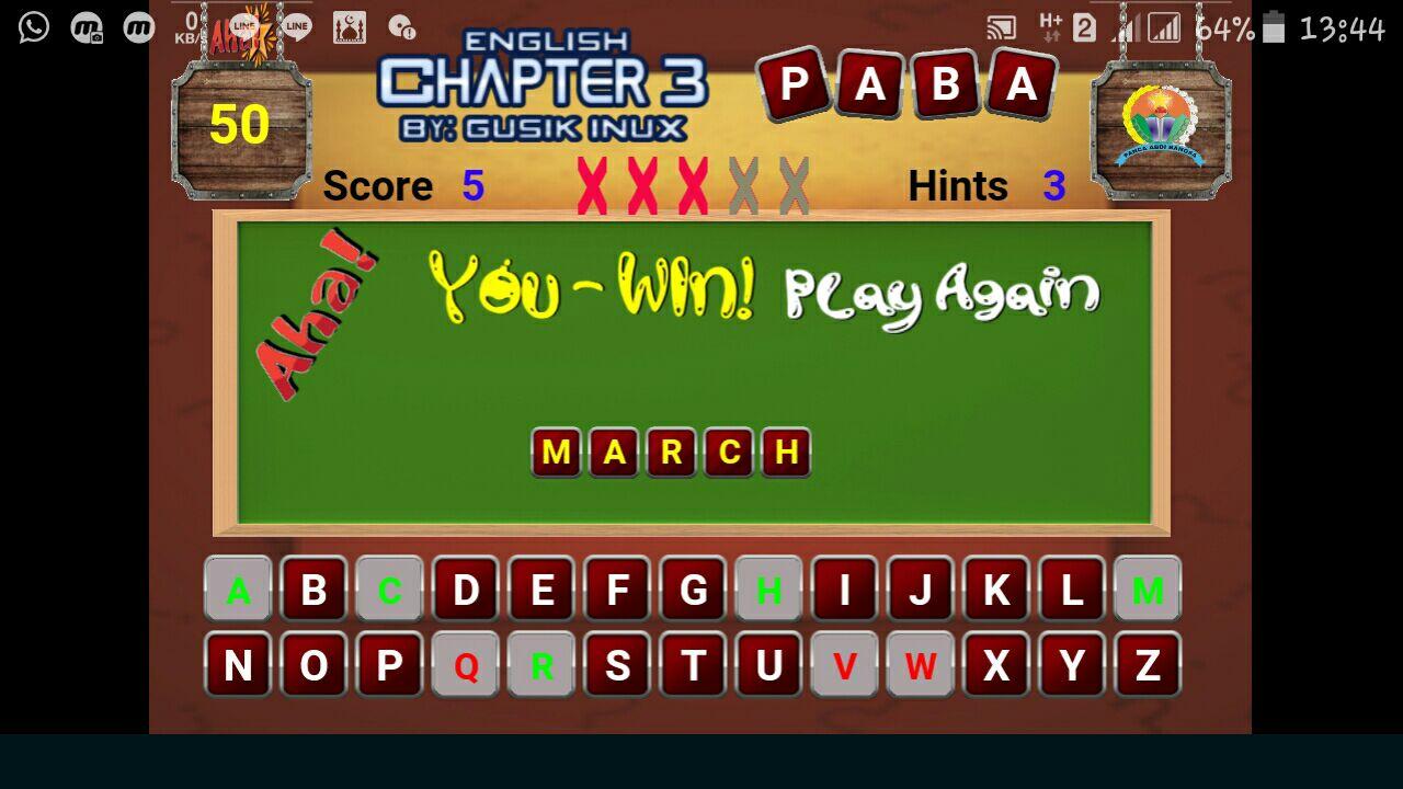 Game Bahasa Inggris Kelas 7 Chapter 3
