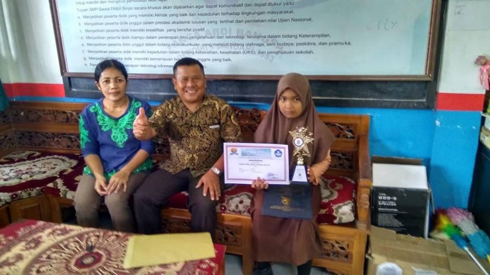 Pemberian apresiasi kepada siswa-siswi berprestasi di SMP PABA Binjai