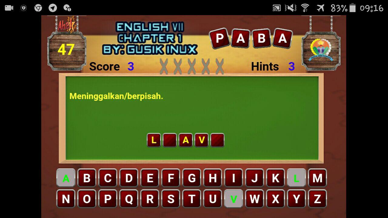 Game Bahasa Inggris Kelas 7 Chapter 1